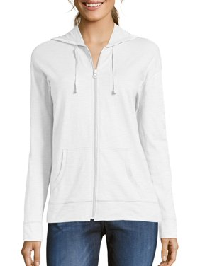 de08fa525 Product Image Women's Slub Jersey Cotton Full Zip Hoodie
