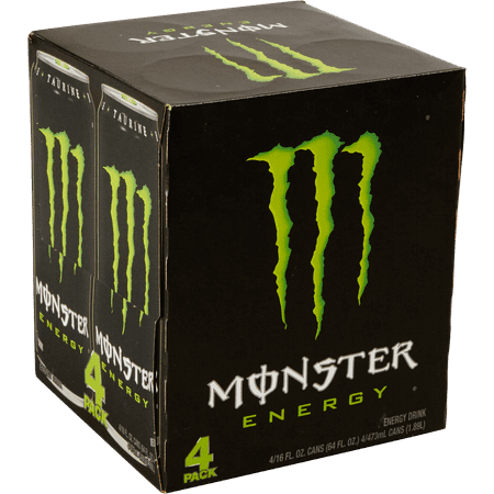 Monster Energy Drink  Original  16 Fl Oz  4 Count