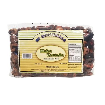Mi Guatemala Toasted Lima Bean 12 oz - Haba Tostada (Pack of (Haba Bear)