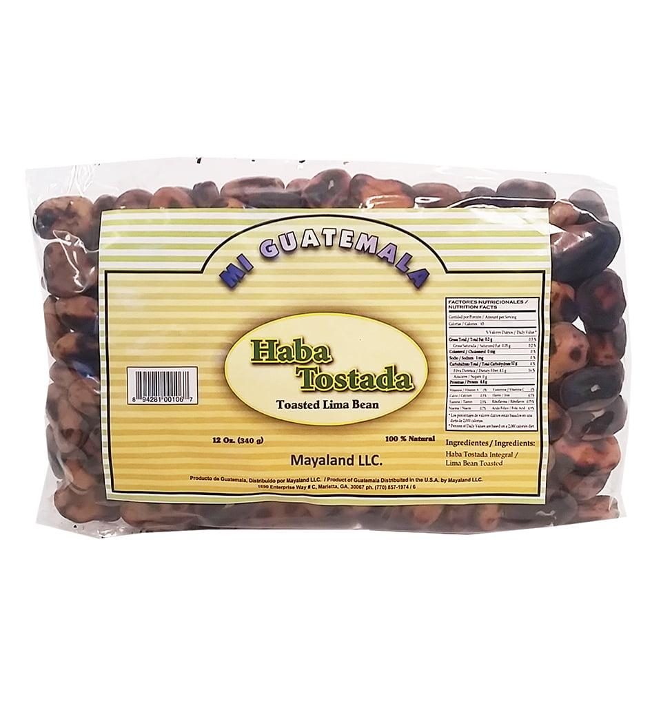 Mi Guatemala Toasted Lima Bean 12 oz - Haba Tostada (Pack of 6)