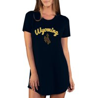 Wyoming Cowboys Concepts Sport Women's Marathon Nightshirt - Black