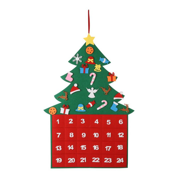 Christmas Wooden Advent Countdown Calendar Days Xmas Table Decor Ornament US