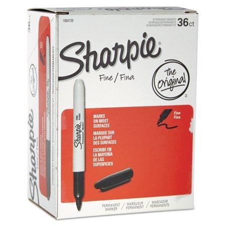 Sharpie Fine Point Permanent Marker  Black  36 Pack