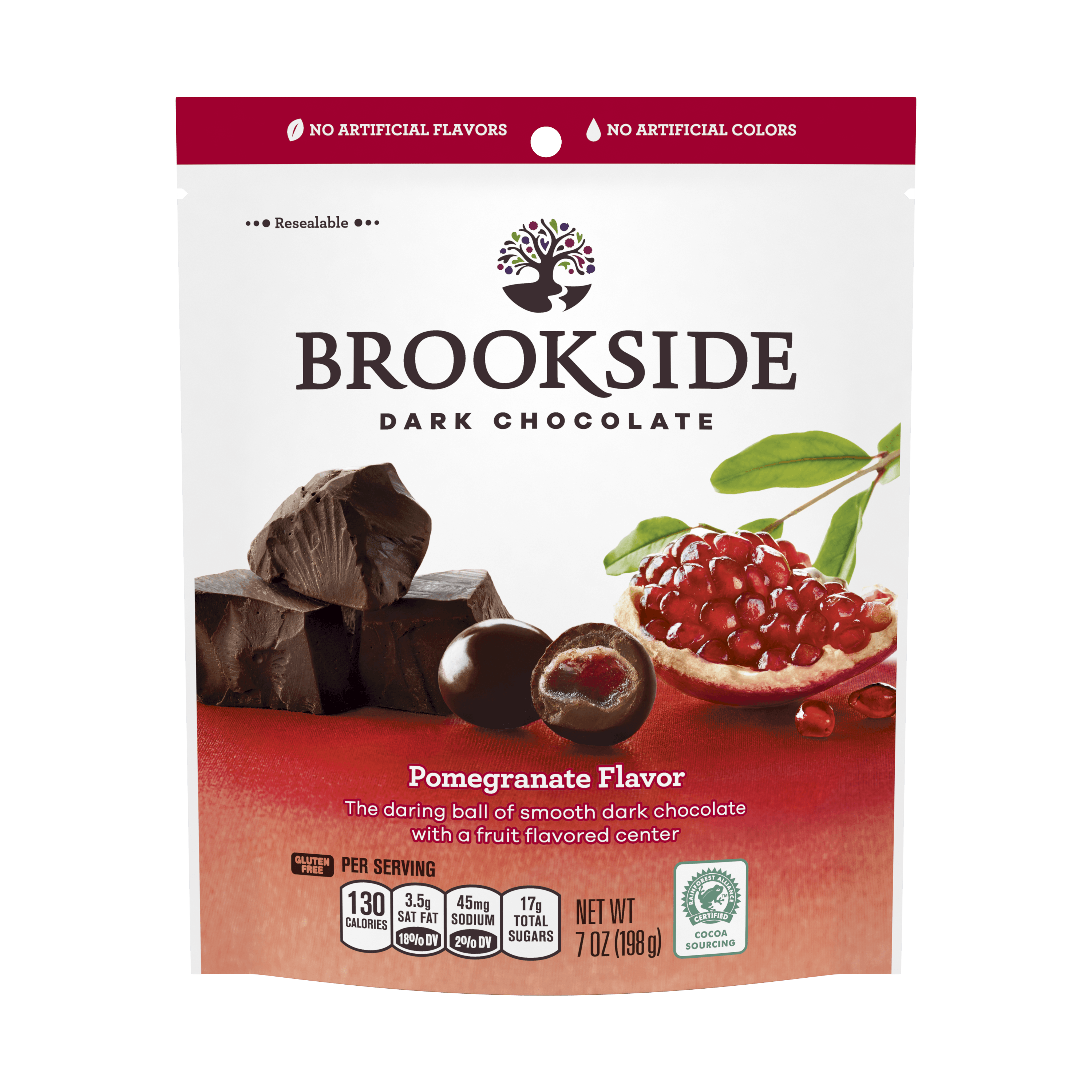 Brookside, Pomegranate Dark Chocolate, 7 Oz