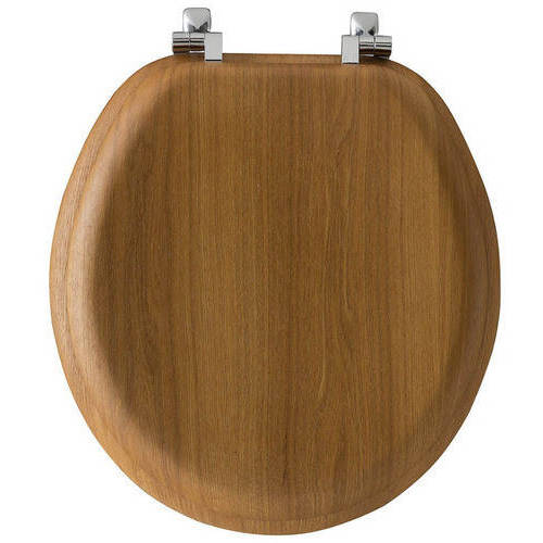 Bemis 9601CP Natural Reflections Wood Round Toilet Seat, Available in Various Colors