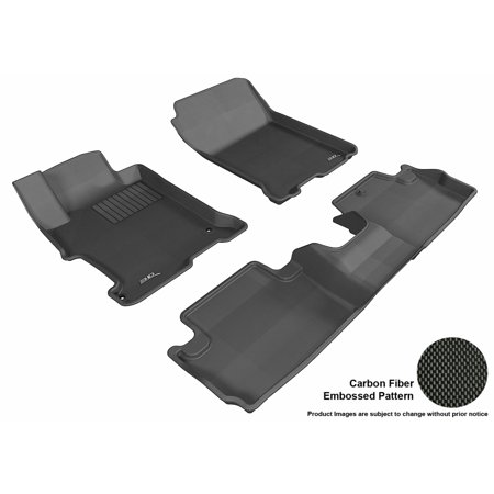 3D MAXpider 2013-2017 Honda Accord Coupe Front & Second Row Set All Weather Floor
