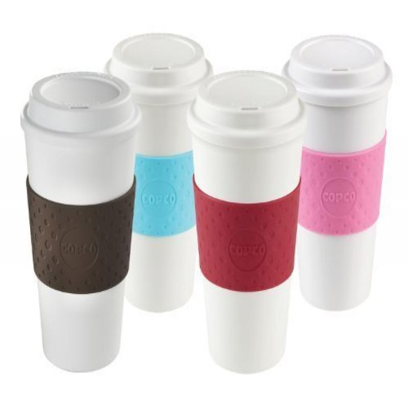 COPCO Acadia Reusable To Go Mug, 16-ounce Capacity 4-pack...