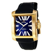 CE3017 Unisex CEO Goliath Blue Dial Rose Gold Steel Blue Leather Strap Swiss Watch