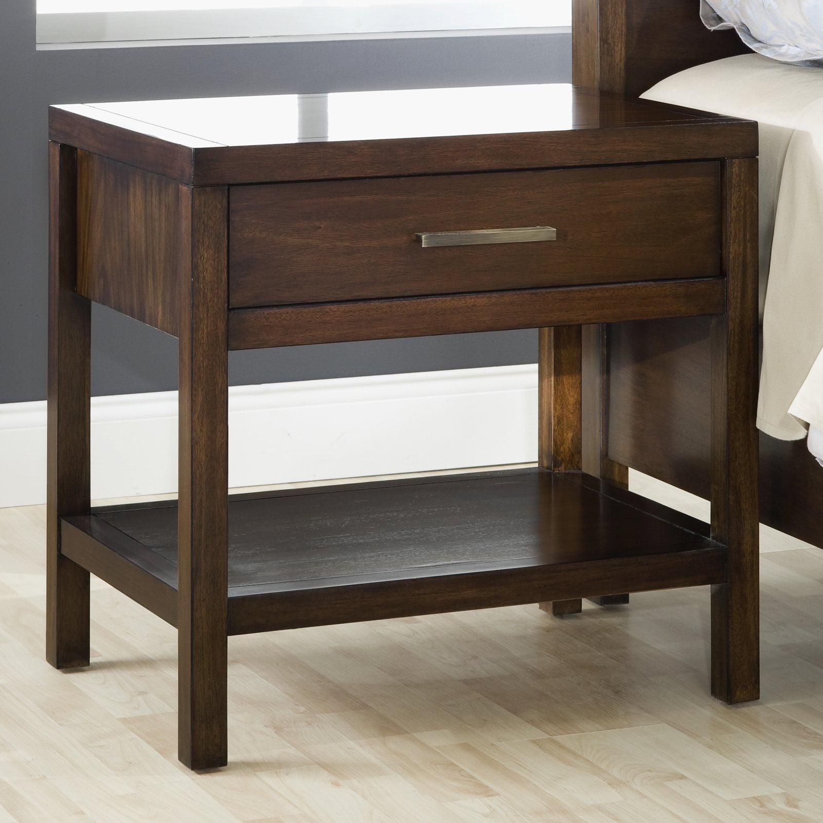 Modus Furniture Uptown 1-Drawer Nightstand, Truffle