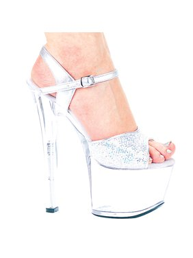 12670418f71 Product Image 7   Heel Silver Glitter Sandal. ELLIE SHOES