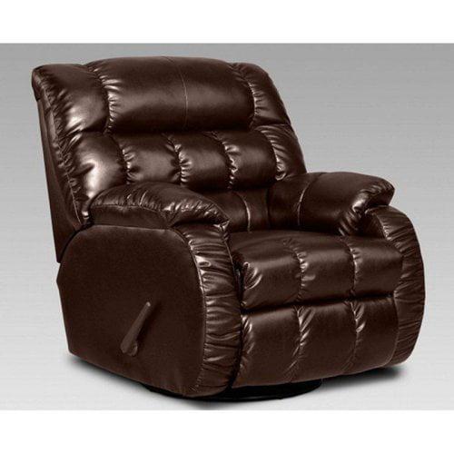 Chelsea Home Payton Leather Swivel Rocker Recliner - Taos Mahogany