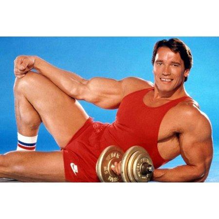 Arnold Schwarzenegger Muscular Gym Pose 24x36