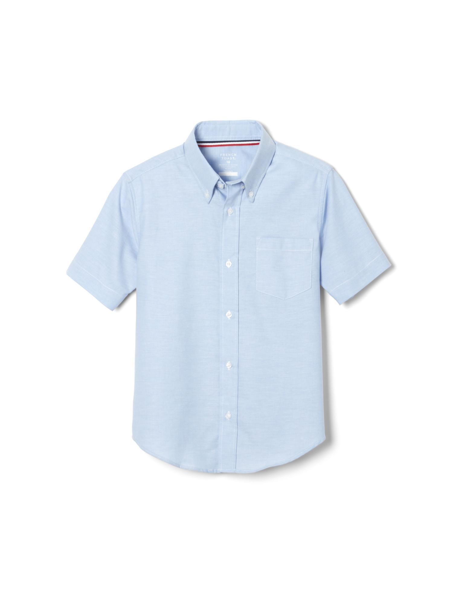 French Toast Boys Light Blue Short Sleeve Polo Shirt Lot Of 3 Size 14