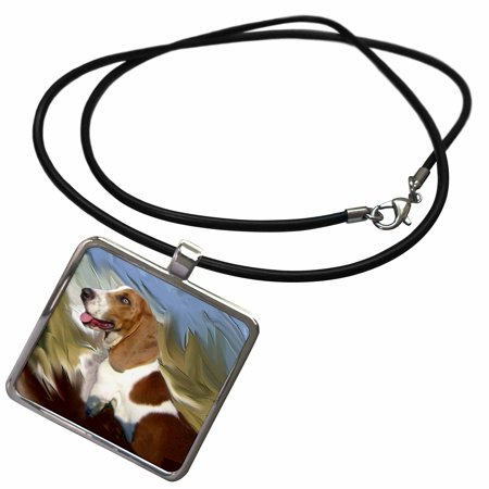 3dRose Basset Hound - Necklace with Pendant (Basset Hound Necklace)