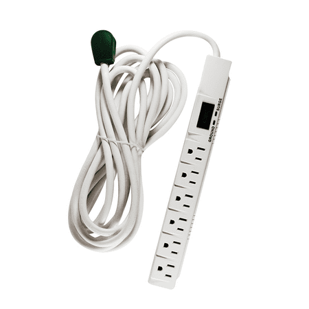 GoGreen Power 6 Outlet Surge Protector, 16315-15, 15