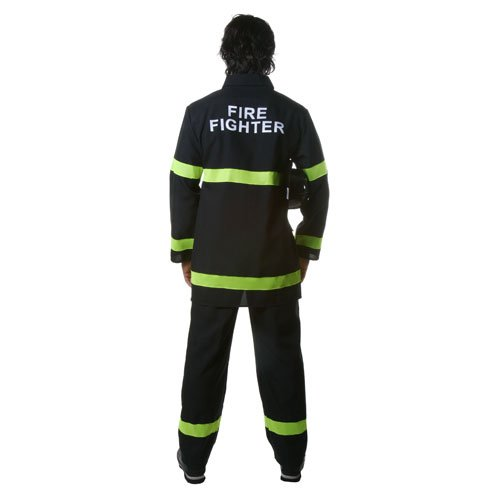 Dress Up America Adult Fire Fighter in Black