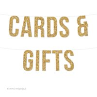 Gold Cards & Gifts Real Glitter Paper Pennant Hanging Banner Includes String No Assembly Required