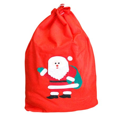 New Large Canvas Merry Christmas Music Forest Stocking Gift Storage Bag - Large Christmas Stocking