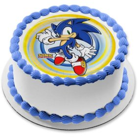 24 Sonic The Hedgehog Edible Frosting Image Cupcake Toppers Birthday Party Walmart Com Walmart Com