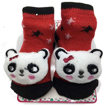 Zak & Zoey 3D Baby Socks 0-12 Months (Red Kitty)