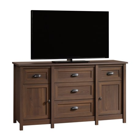 "Better Homes & Gardens Lafayette Entertainment Credenza for TVs up to 50"", English Walnut Finish"