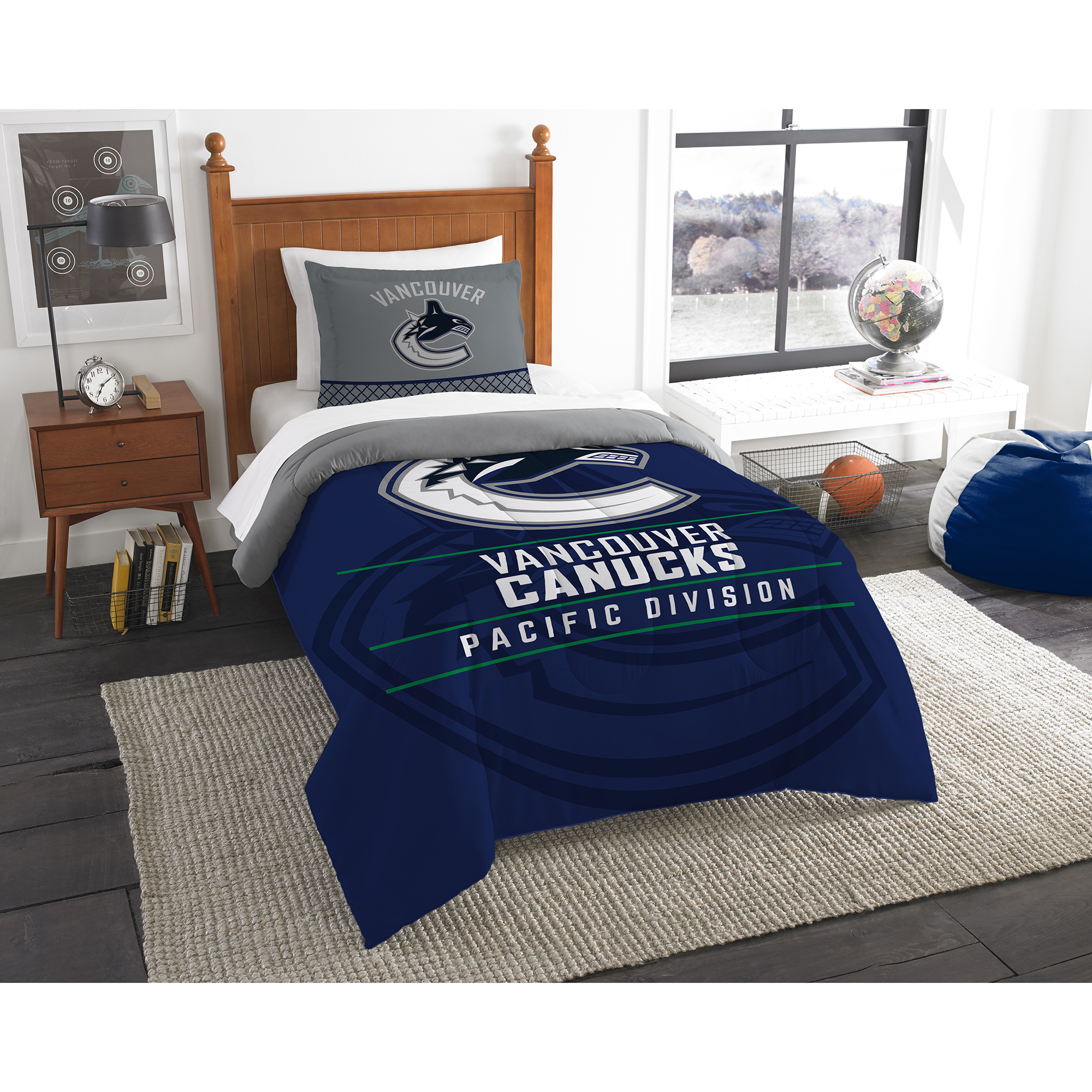 Vancouver Canucks The Northwest Company NHL Draft Twin Comforter Set