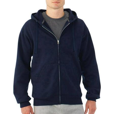 Fruit of the Loom Mens Fleece Full Zip Hooded Sweatshirt - Walmart.com
