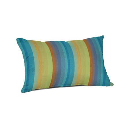 "Sunbrella 20"" x 13"" Lumbar Pillow - Astoria Lagoon"