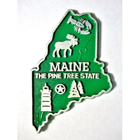 Maine the Pine Tree State Map Fridge Magnet