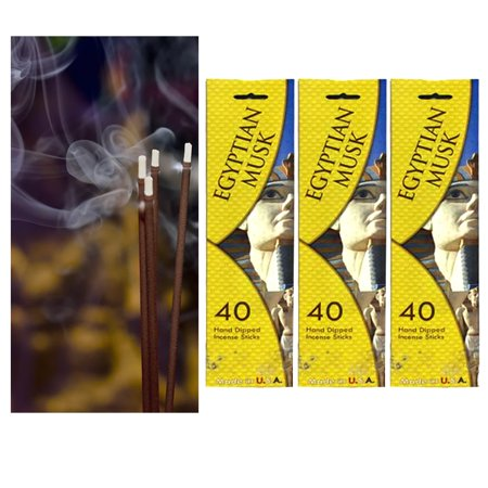 120 Incense Stick Hand Dipped Egyptian Musk Fragrance Scent Burning Perfume