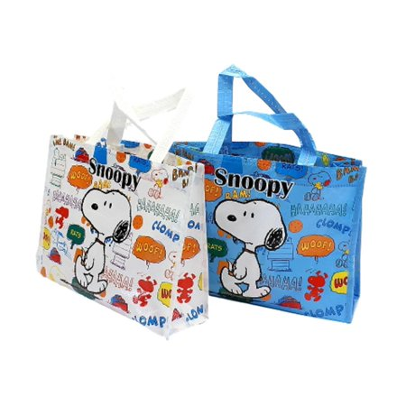 Peanuts Snoopy Reusable lunch/Lesson/Gift/ Party Favors Mini Bag For Kids . Set Of Two. - Snoopy Peanuts