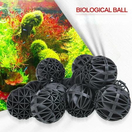 Tuscom 100 Pcs 16MM Bio Balls Filtration Media Aquarium Filter Bio Ball Biological Filtration Rings for Clean Aquarium Wet Dry KoiFish Tanks