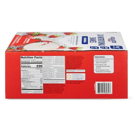 Equate Original Nutritional Shakes, Strawberry, 8 Fl Oz, 24 Ct