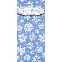 Designer Greetings White Snowflakes on Blue 8 Christmas Money & Gift Card Holders