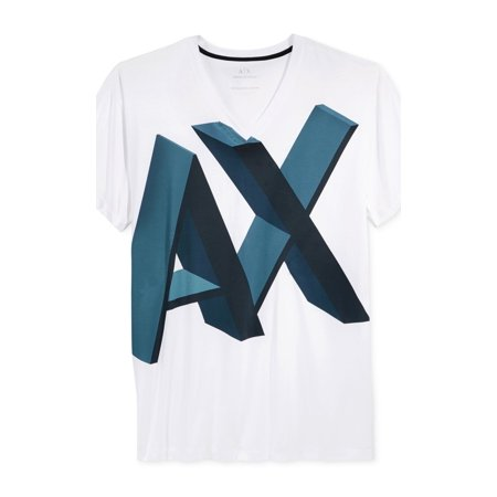 Armani Exchange NEW White Mens Size 2XL Graphic Print Tee (Armani Exchange Mens Wear)