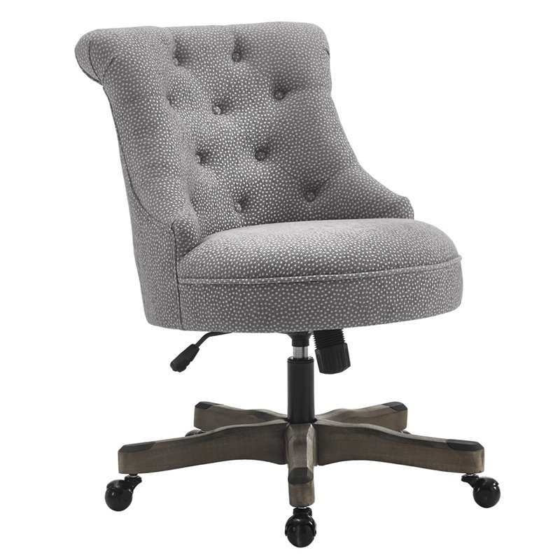 Executive Office Chair Gray Upholstered