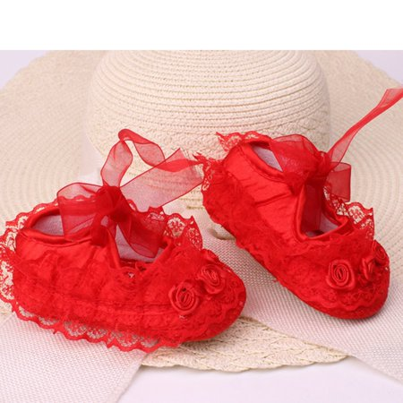 Fashion Lace Flower Baby Shoes Anti-skid Soft Outsole Cute Toddlers Shoes - image 2 of 3