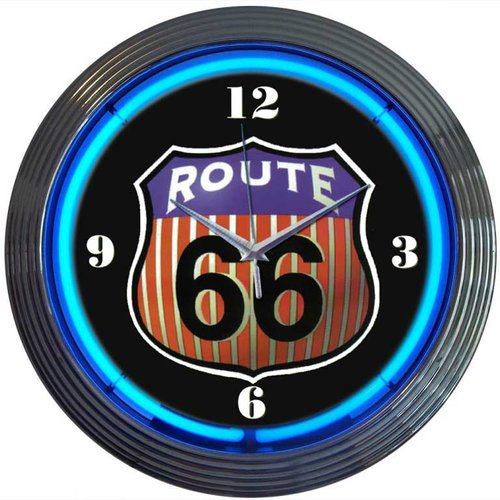 Neonetics Cars and Motorcycles 15'' Route 66 Wall Clock