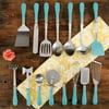 The Pioneer Woman Frontier Collection 15-Piece All In One Tool and Gadget Set, Turquoise