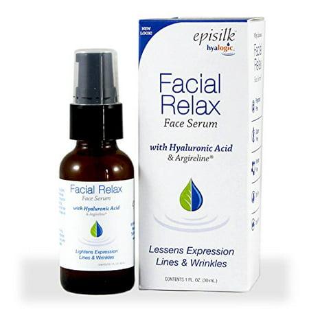 Hyalogic Episilk FRS Sérum - HA Diminue expression rides et ridules du visage - Relax sérum avec l'acide hyaluronique et Argireline - 1 oz