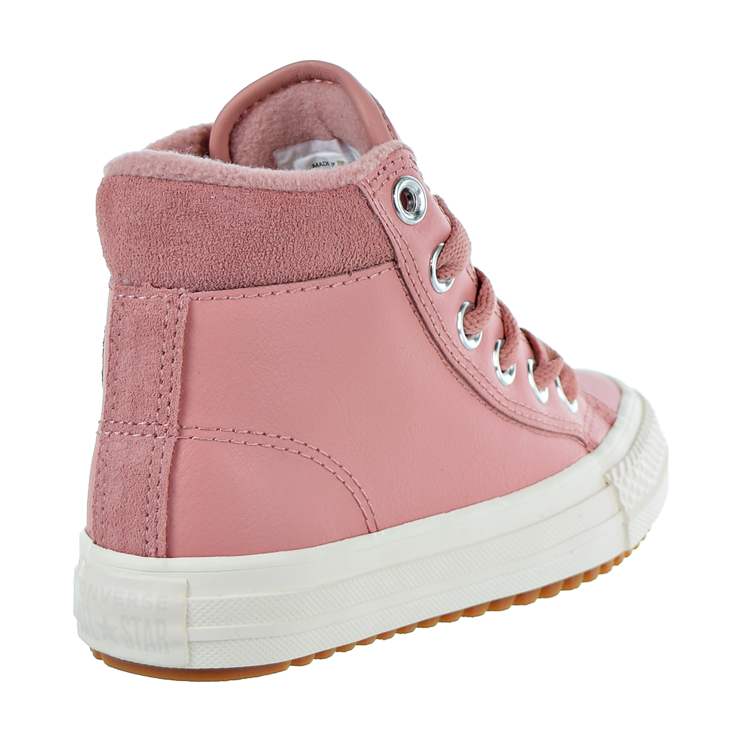 Converse Chuck Taylor All Star PC Boot Hi Kids Shoes Pink-Burnt Caramel 661905c