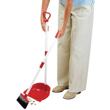 Miles Kimball   Long Handled Dust Pan with Broom