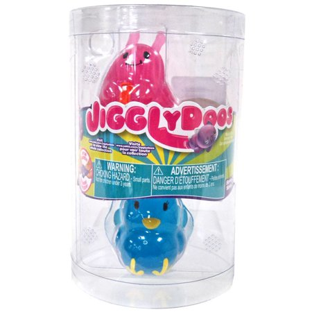 JigglyDoos Series 2 Pink Slug & Blue Turkey Squeeze Toy 2-Pack
