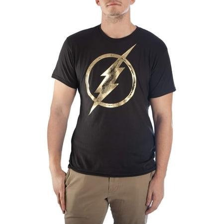 Men's DC Flash Gold Foil Short Sleeve Graphic T Shirt