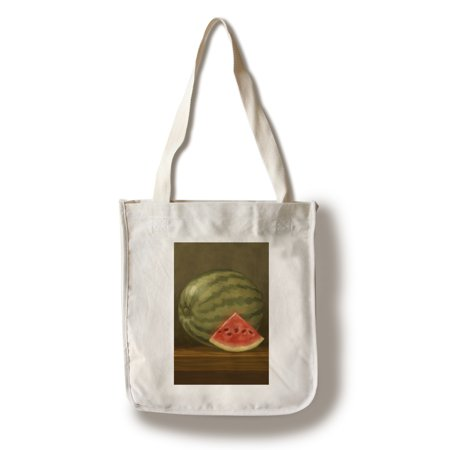 Screen Printing Tote Bags - Watermelon - Oil Painting - Lantern Press Artwork (100% Cotton Tote Bag - Reusable)
