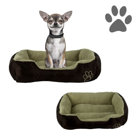 (small dog or cat pet bed rectangle plush cuddler, 22