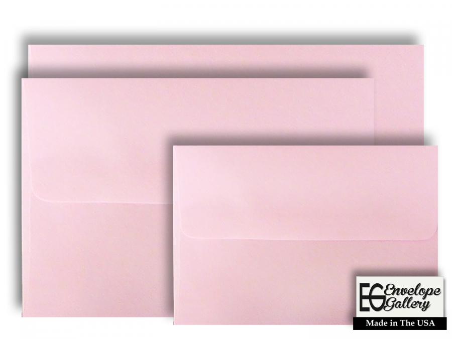 Invitations Pink Pastel A1 Measures: 3 5//8 x 5 1//8 Envelopes 100 Boxed for 3 3//8 X 4 7//8 Response Cards Announcements Showers Weddings from The Envelope Gallery