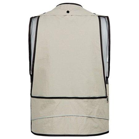 Men Sports Photography Fishing Vest Multifunction Pockets Waistcoat Jacket Breathable Quick Dry Mesh Vest Color:Khaki Size:4XL - image 1 of 3