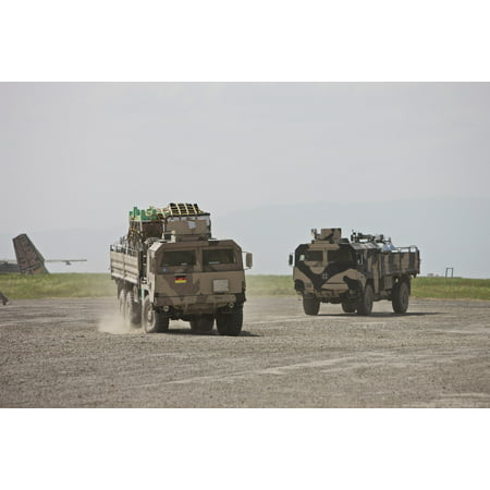 German Army Man 7T Mil Gl 6X6 Pritsche Vehicles Canvas Art   Terry Moorestocktrek Images  18 X 12