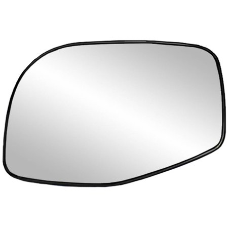33035 - Fit System Driver Side Heated Mirror Glass w/ backing plate, Ford Explorer, Mercury Mountaineer 02-05, Explorer Sport Trac 01-05, 5 1/ 8